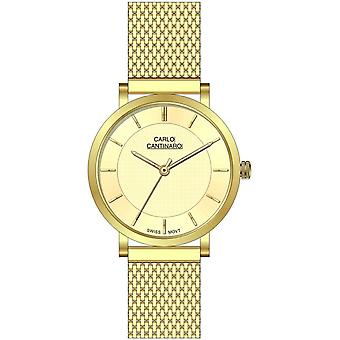 Carlo Cantinaro Gold Stainless Steel CC1002LM014 Women's Watch