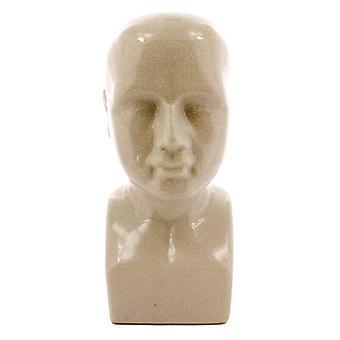 Jumbo White Ceramic Bust Sculpture