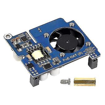 Motherboards power over ethernet hat d for raspberry pi 4b/3b+  poe hat with cooling fan compatible with for
