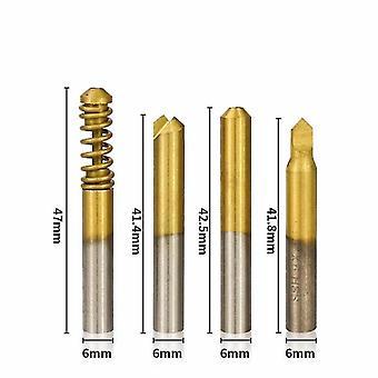 Xcan 4pcs verticale sleutel machine cutter voor speciale sleutels slotenmaker gereedschap kuiltje sleutel snijgereedschappen sleutel