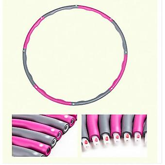 Pink+grey Collapsible Weighted Hula Hoop Fitness Workout Gym Exercice 1kg