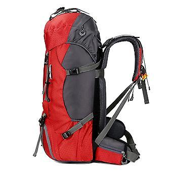 Sac d'alpinisation 60l Sac à dos imperméable à dos de randonnée Sac à dos de camping extérieur avec housse de pluie