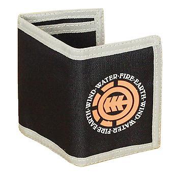 Élément à trois volets portefeuille avec poches internes et Section de pièce de monnaie zippé ~ marine élémentaire