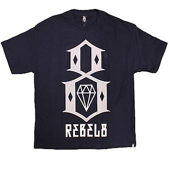 Rebel8 Logo T-shirt Navy