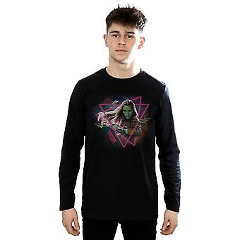 Marvel Men's Guardians Of The Galaxy Neon Gamora Long Sleeved T-Shirt