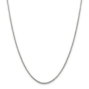 925スターリングシルバーポリッシュ2mmロロチェーンネックレス春輪ジュエリーギフト女性のための - 長さ:16〜36