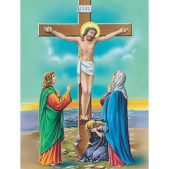 يسوع في حجم البيت قماش العلم صلب الصليب