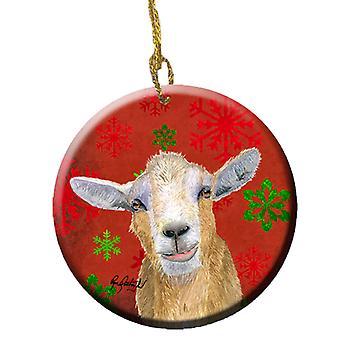 كارولينز الكنوز RDR3024CO1 الماعز كاندي قصب عيد الميلاد السيراميك Orname