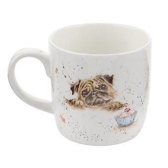 Royal Worcester Wrendale Pug Love Single Bone China Mug