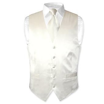 Biagio mäns sidenklänning Vest & hals slips Set