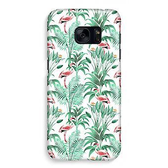 Samsung S7 Full Print Case - Flamingo leaves