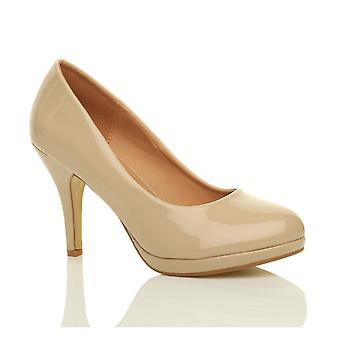 Ajvani kvinners midten av høy hæl plattform partiet arbeid kvelden parti prom bryllup brude retten sko pumper