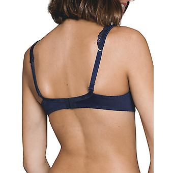 Maison Lejaby 13833-444 Women's Gaby Midnight Blue Lace Non-Padded Underwired Full Cup Bra