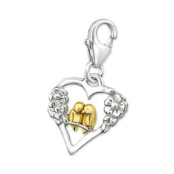 Heart - 925 Sterling Silver Charms with Lobster - W29863X