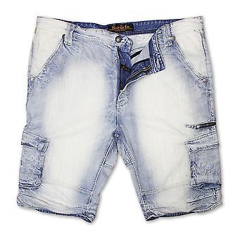 Rivet De Cru Blue Flour Denim Cargo Shorts