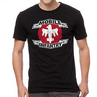 Starship Troopers Distressed MI Men's Black T-shirt