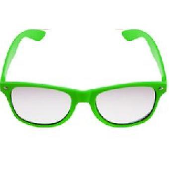 Grüner Neon klar Lense Wayfarer Brille