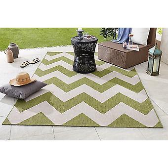 Design et Outdoorteppich tissu plat unique vert beige