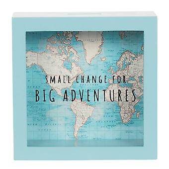 Sass & Belle Vintage Map Big Adventures Money Box