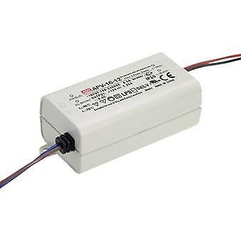 Mean Well APV-16-24 LED-Transformator Konstantspannung 16 W 0 - 0,67 A 24 V DC nicht dimmbar, Überspannungsschutz