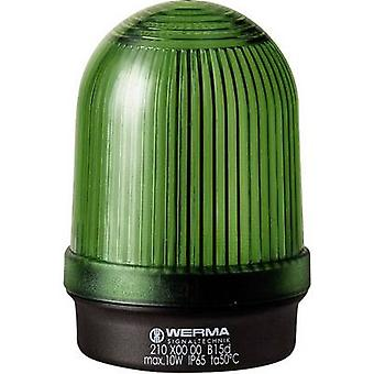 Werma Signaltechnik Light 210.200.00 Green Non-stop light signal 12 V AC, 12 V DC, 24 V AC, 24 V DC, 48 V AC, 48 V DC, 110 V AC, 230 V AC