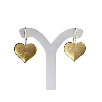 Heart Earrings gold plated heart earrings - 925 Silver Heart Earrings