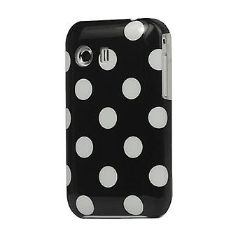 Cover hard case for mobile Samsung Galaxy Y S5360 black / white