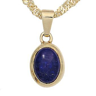 Lapis Lazuli Anhänger 585 Gold Gelbgold 1 Lapislazuli blau