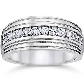 1/2 Karat Weißgold Herren Diamant Ehering 10K