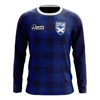2020-2021 Ecosse Long Sleeve Tartan Concept Football Shirt