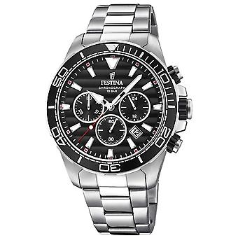 Festina Mens Stainless Steel Chronograph Black Dial F20361/4 Watch