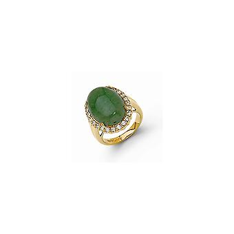 Opaque Aventurine Ring Jewelry Gifts for Women - Ring Size: 5 to 8