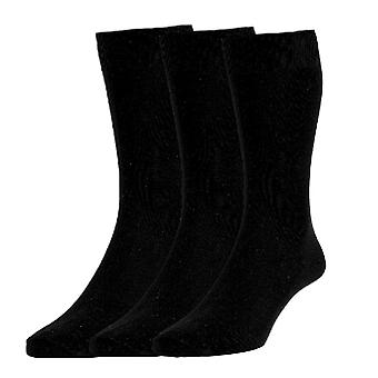 HJ Hall 3 Pack Plain Knit Classic Cotton - Black