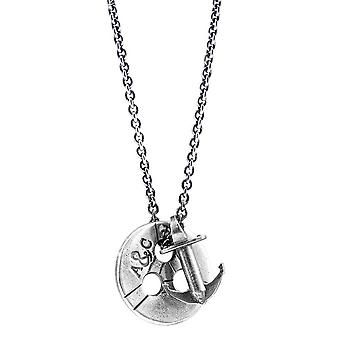 Anchor and Crew Lerwick Pulley Silver Necklace - Silver