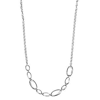 Elements Silver Open Oval Link Necklace - Silver