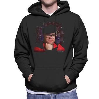 TV tider Elton John leende Mäns Hooded Sweatshirt