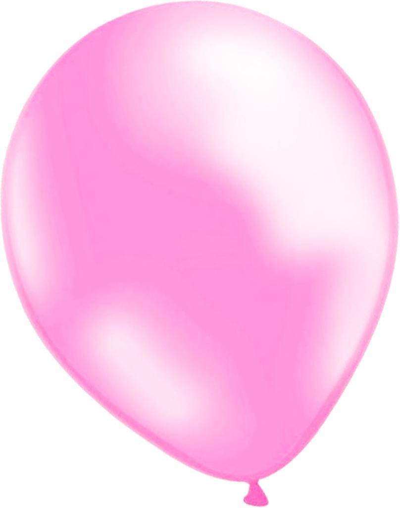 Balões de luz rosa metálico pacote com 10