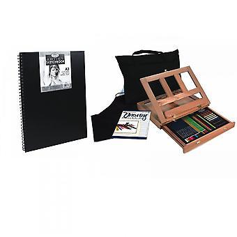 Koninklijke & Langnickel schetsen & tekening ezel Set + A3 Pad bundel