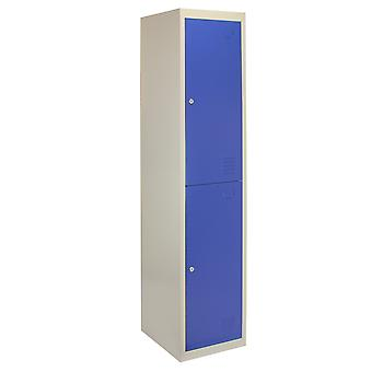 Metal Storage Lockable Lockers 2 Doors Unit Gym Changing Room Staff Assembled