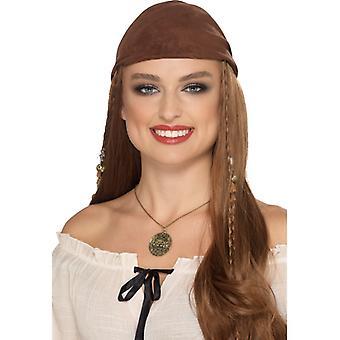 Piraci pirat naszyjnik akcesoria biżuteria złota czaszka karnawał