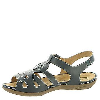 Wanderlust Womens t18201 Leather Open Toe Casual Ankle Strap Sandals