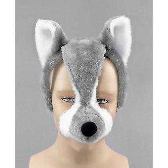 Máscara de lobo en diadema + sonido.