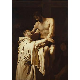 Christ Embracing St. Bernard, Francesc Ribalta, 60x40cm