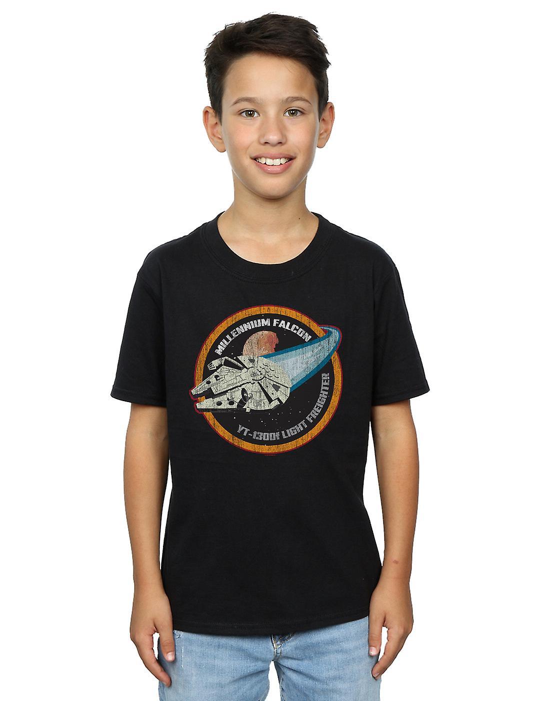 Star Wars Boys Millennium Falcon Badge T-Shirt