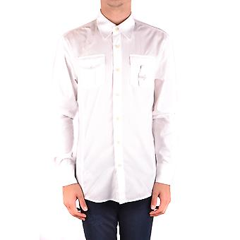 Bikkembergs Ezbc101062 Men's White Cotton Shirt