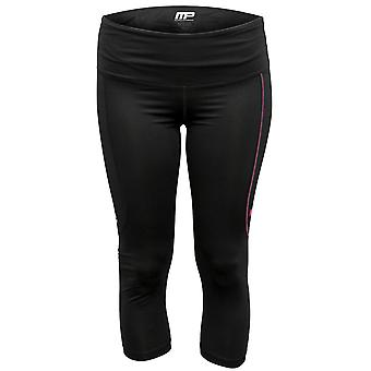 MusclePharm MP Womens Virus Compression Performance 3/4 Cropped Pants - Black