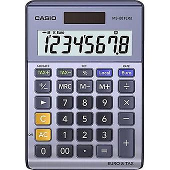 Casio MS-88TERII Desk calculator Purple-grey Display (digits): 8 solar-powered, battery-powered (W x H x D) 103 x 29 x 147 mm