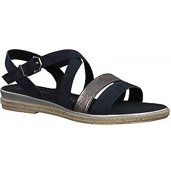Marco Tozzi Flat Crossover Sandal - 28126