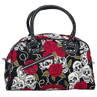 Banned Skulls & Roses Handbag