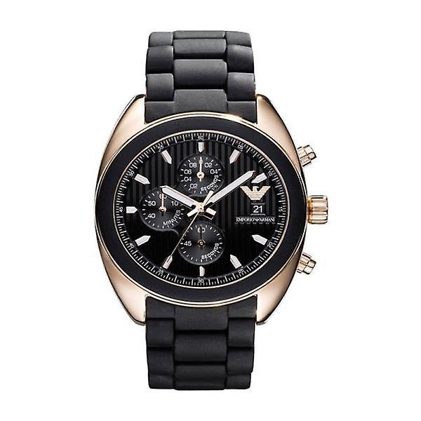 Emporio Armani Ar5954 Men's Sportivo Black Rubber Bracelet Watch